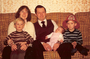 Andrew Baxter family photo likely taken early in 1980